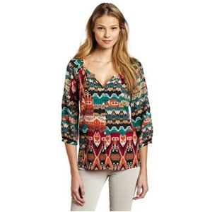 Lucky Brand Alexis Multi Color Ikat Southwestern